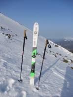 Über diesen Hang raste mein Ski ins Tal.