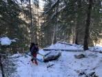 Skitragen am Steiglweg