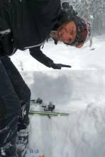 1m Neuschnee, Einsinktiefe Ski ca. 50-70cm